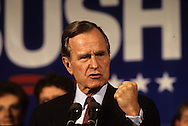 President George HW Bush (41) campaigning for re-election  in October 1992...Photograph by Dennis Brack bb24