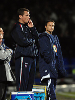 Photo: Ashley Pickering.<br />Ipswich Town v Leeds United. Coca Cola Championship. 16/12/2006.<br />Ipswich manager, Jim Magilton (L) and Leeds manager Dennis Wise (R)