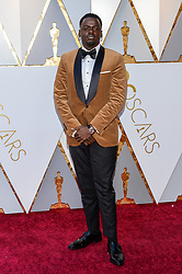 Daniel Kaluuya walking on the red carpet during the 90th Academy Awards ceremony, presented by the Academy of Motion Picture Arts and Sciences, held at the Dolby Theatre in Hollywood, California on March 4, 2018. (Photo by Anthony Behar/Sipa USA)