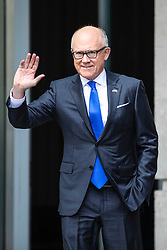 © Licensed to London News Pictures. 02/06/2019. London, UK. United States Ambassador to the United Kingdom Woody Johnson leaves BBC Broadcasting House after appearing on The Andrew Marr Show. Photo credit: Rob Pinney/LNP