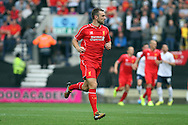 Liverpool's Rickie Lambert in action. Pre-season friendly match, Preston North End v Liverpool at Deepdale in Preston, England on Saturday 19th July 2014.<br /> pic by Chris Stading, Andrew Orchard sports photography.