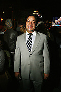 Michael Pratts at the Pre-Election party held on the grounds of The Adam Clayton Powell State Office Building in Harlem on Election night, November 4, 2008..Democratic Presidential Candidate Barack Obama is declared victor and President-Elect as the 44th U.S. President making him the first African-American President in its 225 year history.