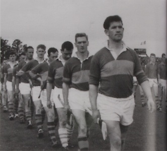 Tipperary Captain Mick Murphy leads his team in the Munster Championship in 1964.