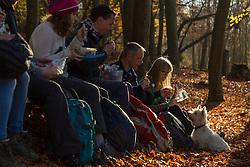 RAMBLERS ASSOCIATION: Ramblers association winter walks promotion. Pangbourne, Berkshire, November 19 2018.