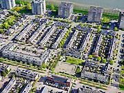 Nederland, Noord-Holland, Amsterdam, 07-05-2021; Diemen-Noord, Oud-Diemen en de nieuwbouwwijk Vogelweide.<br /> <br /> luchtfoto (toeslag op standaard tarieven);<br /> aerial photo (additional fee required)<br /> copyright © 2021 foto/photo Siebe Swart