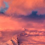 Sunrise over Breidamerkurfjall, East Coast, Iceland