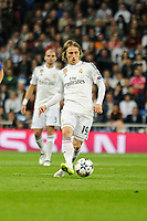 Real Madrid´s Luka Modric during 2014-15 Champions League match between Real Madrid and FC Shalke 04 at Santiago Bernabeu stadium in Madrid, Spain. March 10, 2015. (ALTERPHOTOS/Luis Fernandez)