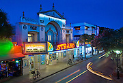In the heart of Key West on Duval Street the front facade of the Strand Theater, built in the 1920's, is now the store front for a Walgreens.
