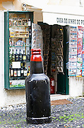 Wine and tourist shop. Street view. Alfama district. Lisbon, Portugal