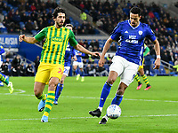 Football - 2019 / 2020 Sky Bet (EFL) Championship - Cardiff City vs. West Bromwich Albion<br /> <br /> Robert Glatzel of Cardiff & Ahmed Hegazy of WBA , at Cardiff City Stadium.<br /> <br /> COLORSPORT/WINSTON BYNORTH