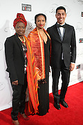 """December 6, 2012- New York, NY: Recording Artist Angelique Kidjo (Honoree) and family attend the ' Keep A Child Alive Black Ball """" Redux """" 2012 ' held at the Apollo Theater on December 6, 2012 in Harlem, New York City. The Benefit pays homage to Oprah Winfrey, Angelique Kidjo for their philanthropic contributions in Africa and worldwide and celebrates the power of woman and the promise of an AIDS-free Africa. (Terrence Jennings)"""