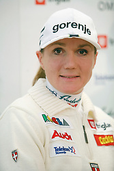 Petra Majdic at the Press Conference of Nordic teams of Cross Country Skiing, on December 4, 2007 in Ljubljana, Slovenia . (Photo by Vid Ponikvar / Sportal Images).