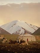 "Kara Jelgha (""black valley"") summer camp. Royal palace?... : the yurt of Abdul Rashid Khan, the ""king"" of the Kyrgyz.<br /> <br /> Adventure through the Afghan Pamir mountains, among the Afghan Kyrgyz and into Pakistan's Karakoram mountains. July/August 2005. Afghanistan / Pakistan."