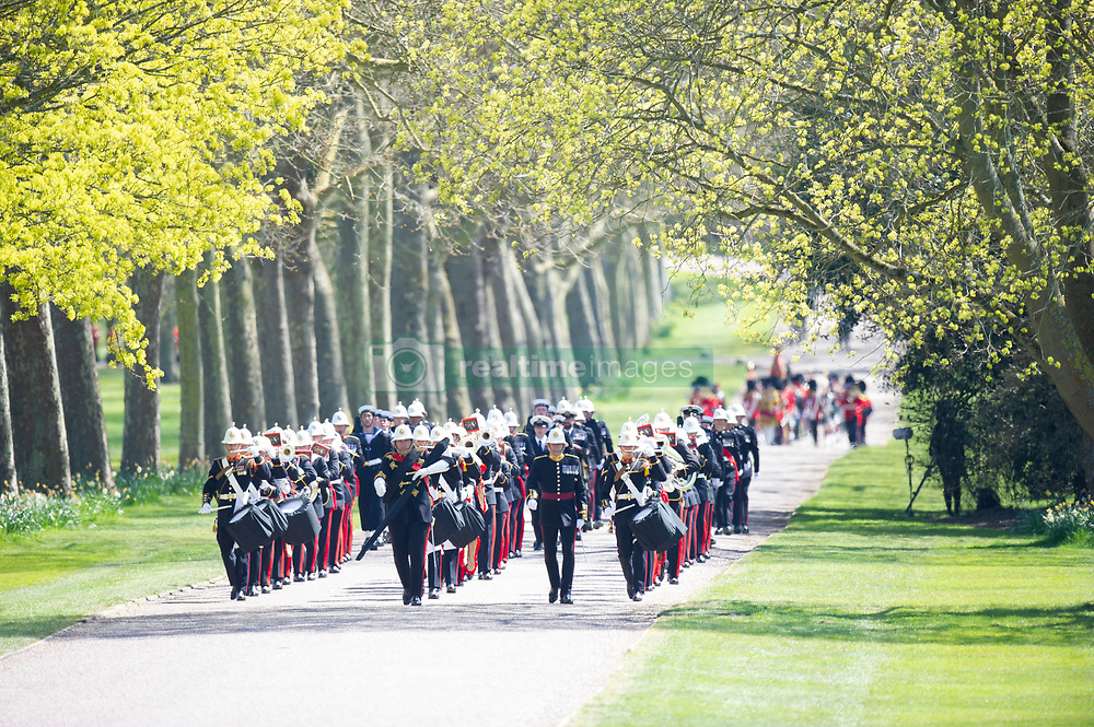 Members of the military arrive for the funeral of the Duke of Edinburgh in Windsor Castle, Berkshire. Picture date: Saturday April 17, 2021. PA Photo. See PA story FUNERAL Philip. Photo credit should read: Tim Merry/Daily Star/PA Wire