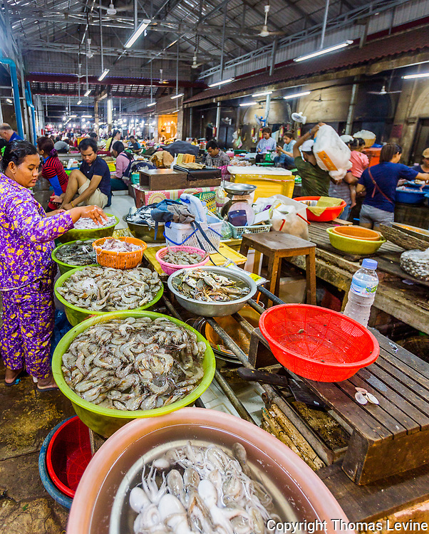 Siem Reap Old Market food section. Raw to Jpg.