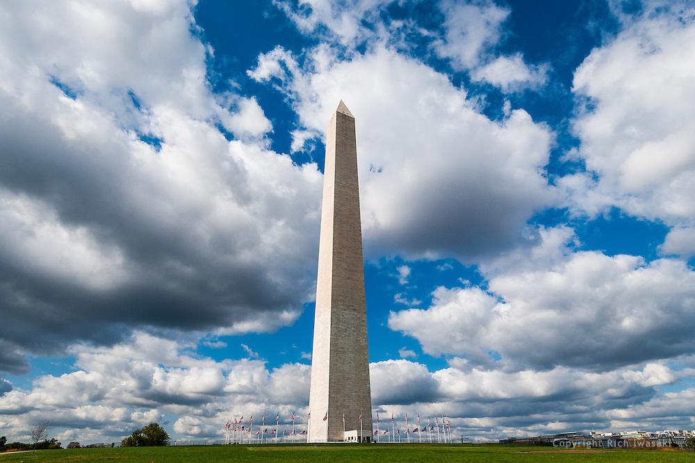 Washington Monument and clouds, Washington, DC