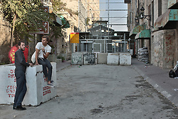 A view of a checkpoint in Hebron in the west bank of Palestine. From a series of photos commissioned by  British NGO, Medical Aid for Palestinians (MAP).