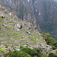 View on the agricultural terraces of Machu Picchu.
