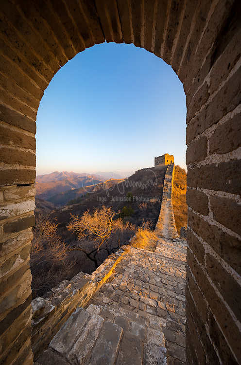 The Great Wall of China is a series of fortifications made of stone, brick, tamped earth, wood, and other materials, generally built along an east-to-west line across the historical northern borders of China to protect the Chinese states and empires against the raids and invasions of the various nomadic groups of the Eurasian Steppe with an eye to expansion. Several walls were being built as early as the 7th century BC; these, later joined together and made bigger and stronger, are collectively referred to as the Great Wall. Especially famous is the wall built in 220–206 BC by Qin Shi Huang, the first Emperor of China. Little of that wall remains. The Great Wall has been rebuilt, maintained, and enhanced over various dynasties; the majority of the existing wall is from the Ming Dynasty (1368–1644).