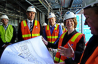 Deputy Prime Minister Julia Gillard with Linsay Tanner and Steven Kernahan inspecting the new facilities at Visy Park Pic By Craig Sillitoe This photograph can be used for non commercial uses with attribution. Credit: Craig Sillitoe Photography / http://www.csillitoe.com<br /> <br /> It is protected under the Creative Commons Attribution-NonCommercial-ShareAlike 4.0 International License. To view a copy of this license, visit http://creativecommons.org/licenses/by-nc-sa/4.0/.