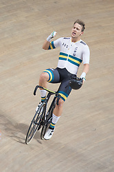 February 28, 2019 - Pruszkow, Poland - Samuel Welsford (AUS) on day two of the UCI Track Cycling World Championships held in the BGZ BNP Paribas Velodrome Arena on February 28, 2019 in Pruszkow, Poland. (Credit Image: © Foto Olimpik/NurPhoto via ZUMA Press)