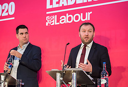 © Licensed to London News Pictures. 01/02/2020. Bristol, UK. RICHARD BURGON and IAN MURRAY at the Labour Party Deputy Leadership Hustings, at Ashton Gate Stadium. Deputy Leadership Candidates: Dr Rosena Allin-Khan, Dawn Butler, Angela Rayner, Richard Burgon, Ian Murray. Photo credit: Simon Chapman/LNP.