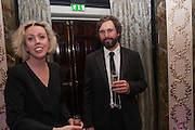 NINA FOWLER; CRAIG WYLIE, The Sky South Bank Arts Awards, Dorchester Hotel , Park Lane, London. 1 May 2012.