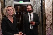 NINA FOWLER; CRAIG WYLIE, The Sky South Bank Arts Awards, Dorchester Hotel , Park Lane, London. 1 May 2012.