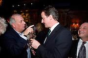 KELVIN MACKENZIE; DAVID CAMERON, Book launch for Citizen by Charlie Brooks. Tramp. London. 1 April  2009