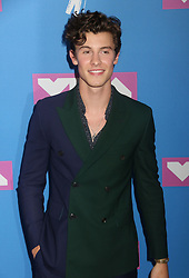 August 20, 2018 - New York City, New York, U.S. - Singer SHAWN MENDES attends the arrivals for the 2018 MTV 'VMAS' held at Radio City Music Hall. (Credit Image: © Nancy Kaszerman via ZUMA Wire)