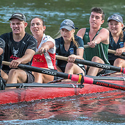The Avon rowing club is joined by its Karapiro based NZ squad athletes for the opening day of the 2018/19 season. Kerrs Reach, Christchurch, Friday 16 November 2018 © Copyright photo Steve McArthur / @RowingCelebration