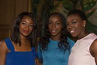 Friidrett<br /> 10. Juni 2015<br /> Exon Mobil Bislett Games<br /> Jordbærparty<br /> Ezinne Okparaebo (L) , NOR<br /> Veronica Campell-Brown (M) , Jamaica<br /> Murielle Ahouré (R) , CIV<br /> Foto: Astrid M. Nordhaug