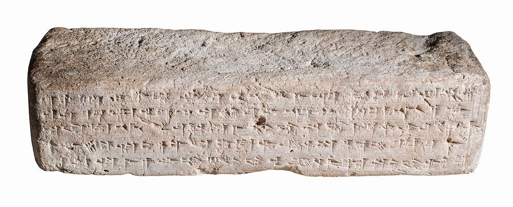 A fired clay brick with Cuneiform inscription 37x12x8