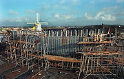 JEANNIE JOHNSTON SHIP-TRALEE.The Jeanie Johnston ship pictured under construction at Blennerville, Tralee, Co. Kerry yesterday..Picture by Don MacMonagle