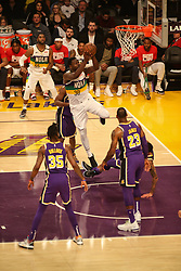 February 27, 2019 - Los Angeles, CA, U.S. - LOS ANGELES, CA - FEBRUARY 27: New Orleans Pelicans Center Julius Randle (30) goes up for a shot in the paint during the first half of the New Orleans Pelicans versus Los Angeles Lakers game on February 27, 2019, at Staples Center in Los Angeles, CA. (Photo by Icon Sportswire) (Credit Image: © Icon Sportswire/Icon SMI via ZUMA Press)