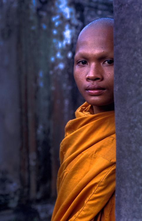 Pilgrim buddhist monk, Angkor Thom, Angkor Wat, Siem Reap