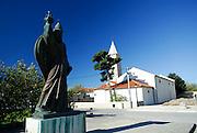 Statue of Grgur Ninski (Gregory of Nin), sculpted by Ivan Mestrovic. Nin, Croatia