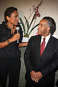 l to r: Robin Roberts and Rev. Al Sharpton at Rev. Al Sharpton's 55th Birthday Celebration and his Salute to Women on Distinction held at The Penthouse of the Soho Grand on October 6, 2009 in New York City
