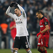 Besiktas's Hugo Almedia (L) celebrate his goal during their Turkish superleague soccer match Besiktas between Gaziantepspor at BJK Inonu Stadium in Istanbul Turkey on Tuesday, 05 January 2012. Photo by TURKPIX