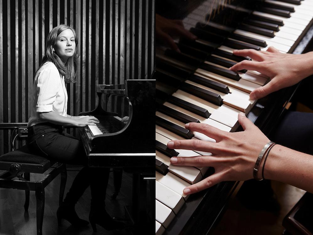 Oslo, 2014.07.17<br /> Marit Larsen slipper ny plate i august. Magasinet følger henne. Her fotosession med flygel på Malabar studio i Maridalsveien 3, Oslo.<br /> Foto: Paul Paiewonsky.<br /> Foto: Paul Paiewonsky / Dagbladet MAGASINET
