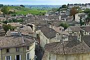 Rooftops of St Emilion in the Bordeaux region of France