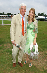 STEVEN & SOPHIE LUSSIER she is a member of the De Beers Diamond family at the King George VI and The Queen Elizabeth Diamond Stakes sponsored by De Beers held at Newbury Racecourse, Berkshie on 23rd July 2005.<br /><br />NON EXCLUSIVE - WORLD RIGHTS