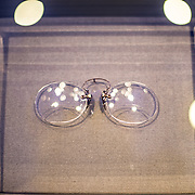 Pince-nez glasses worn by Wilson on display at the Woodrow Wilson Presidential Memorial Exhibit and Learning Center in the Ronald Reagan Building in downtown Washington DC. The Memorial commemorates the 28th American president.