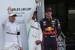 May 25, 2019 - Monte Carlo, Monaco - xa9; Photo4 / LaPresse.25/05/2019 Monte Carlo, Monaco.Sport .Grand Prix Formula One Monaco 2019.In the pic:  pole position :.1st position Lewis Hamilton (GBR) Mercedes AMG F1 W10 .2nd position Valtteri Bottas (FIN) Mercedes AMG F1 W10 .3rd position Max Verstappen (NED) Red Bull Racing RB15 (Credit Image: © Photo4/Lapresse via ZUMA Press)