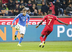 November 17, 2018 - Milan, Italy - Nicol Barella during the Nation League match between Italia v Portogallo, in Milan Giuseppe Meazza Stadio, on November 17, 2018. (Credit Image: © Loris Roselli/NurPhoto via ZUMA Press)