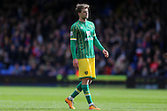 Patrick Bamford of Norwich City looks on. Barclays Premier League match, Crystal Palace v Norwich city at Selhurst Park in London on Saturday 9th April 2016. pic by John Patrick Fletcher, Andrew Orchard sports photography.