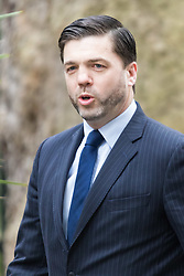 Downing Street, London, March 8th 2016. Wales Secretary Stephen Crabb arrives for the weekly UK cabinet meeting at Downing Street. ©Paul Davey<br /> FOR LICENCING CONTACT: Paul Davey +44 (0) 7966 016 296 paul@pauldaveycreative.co.uk
