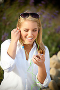 Blonde Teenage Girl With Ipod