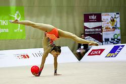 Spela Kratochwill of Slovenia competes during 28th MTM - International tournament in rhythmic gymnastics Ljubljana, on April 4, 2015 in Arena Krim, Ljubljana, Slovenia. Photo by Matic Klansek Velej / Sportida