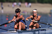 © 2000 All Rights Reserved - Peter Spurrier Sports Photo. .Tel 44 (0) 1784-440 771  .Mobile 44 (0) 973 819 551.email pictures@rowingpics.com.Sydney Olympics 2000 - Penrith Lakes, NSW...USA Bronze Medalist Karen Kraft & Melissa (Missy) Ryan...Awards Dock Medals - ROM Gold, AUS Silver, and USA Bronze. .......... 2000 Olympic Regatta Sydney International Regatta Centre (SIRC) 2000 Olympic Rowing Regatta00085138.tif